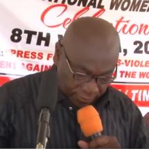 Bro. Joshua Ansah (Deputy SG,TUC-Ghana) Speech on International Women's Day