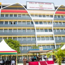 A SPEECH BY SECRETARY GENERAL OF TUC, DR YAW BAAH, AT THE COMMISSIONING OF THE REFURBISHED TRADE UNION HALL BY PRESIDENT NANA ADDO DANKWA AKUFO-ADDO