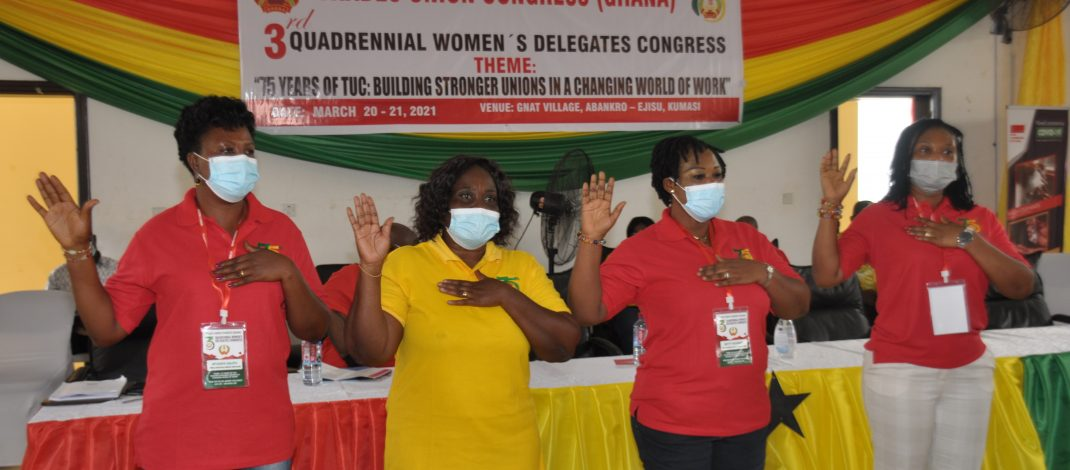 TUC WOMEN'S COUNCIL HOLDS 3RD QUADRENNIAL DELEGATES CONGRESS.