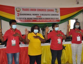 TUC WOMEN'S COUNCIL HOLDS 3RD QUADRENNIAL DELEGATES CONGRESS.